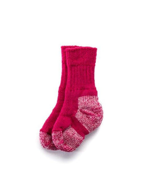 Pink Icelandic outdoor socks for kids