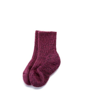 Berry pink angora kid´s socks
