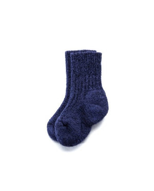 Blue angora kid´s socks