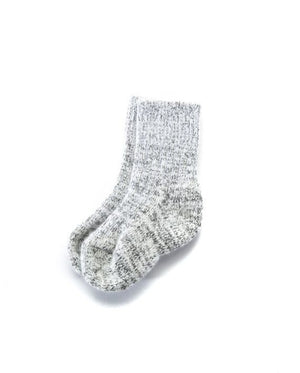 Light grey angora kid´s socks