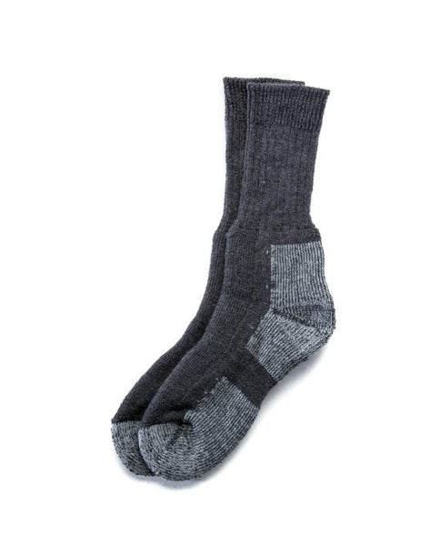 Grey outdoor socks. Made in Iceland from wool mix