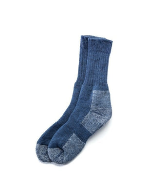 Blue outdoor socks. Made in Iceland from wool mix