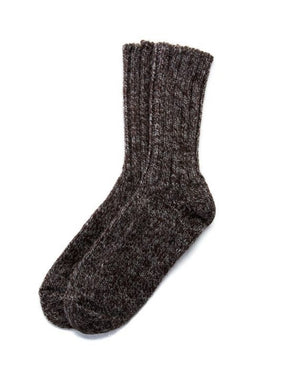 Brown rag socks