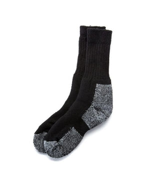 Black outdoor socks. Made in Iceland from wool mix