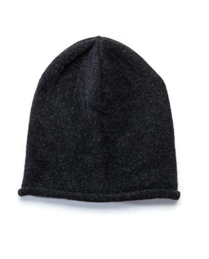 Dark grey soft wool beanie