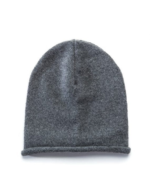 Grey soft wool beanie