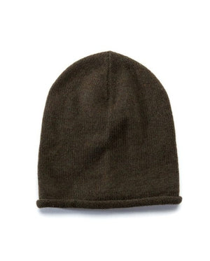 Army green soft wool beanie