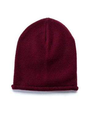Burgundy soft wool beanie