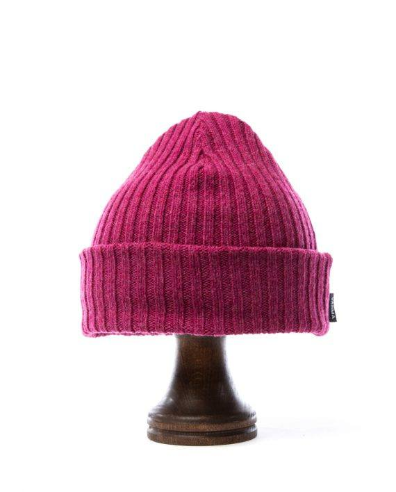 Berry pink wool hat