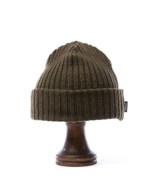 Army green wool hat