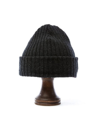 Dark grey wool hat