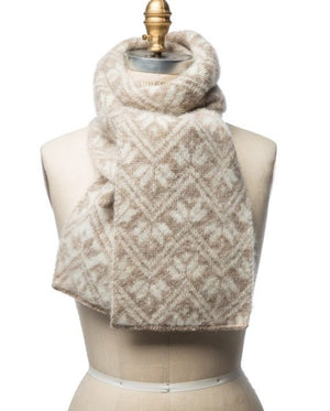 Brushed wool scarf. women´s. Icelandic wool