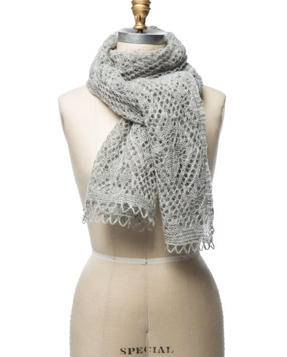 light grey wool shawl