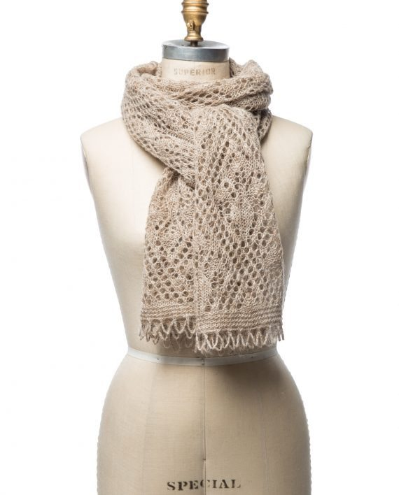 beige wool shawl