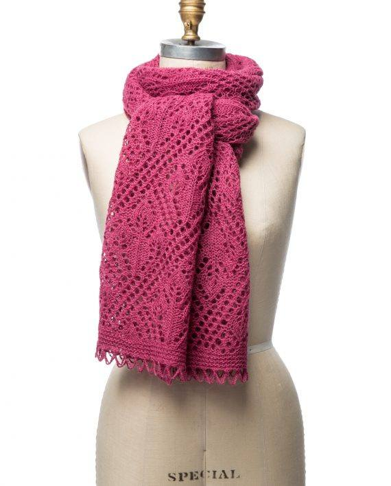 berry pink wool shawl