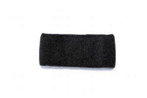Dark grey angora headband