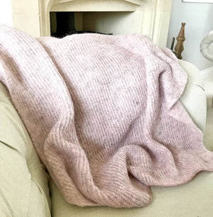 light pink icelandic varma throw