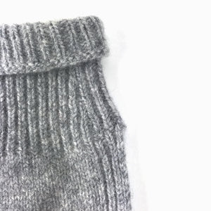 Grey new wool childrens snood Varma wool
