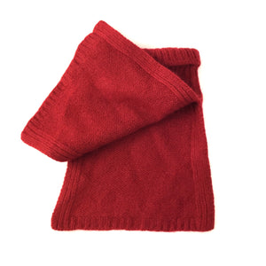 red varma woollen toddlers snood collar