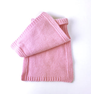 pink childrens wool snood for toddlers Varma