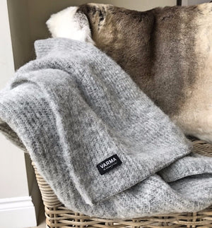 grey varma wool throw