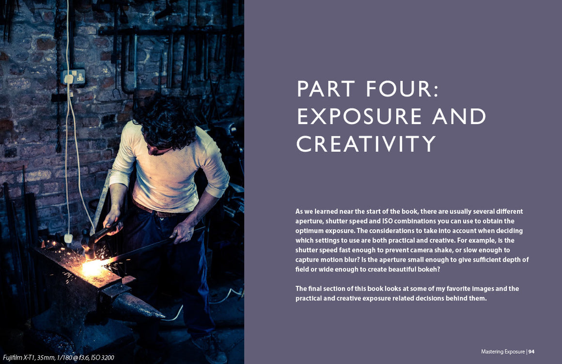 Mastering Exposure ebook inside page