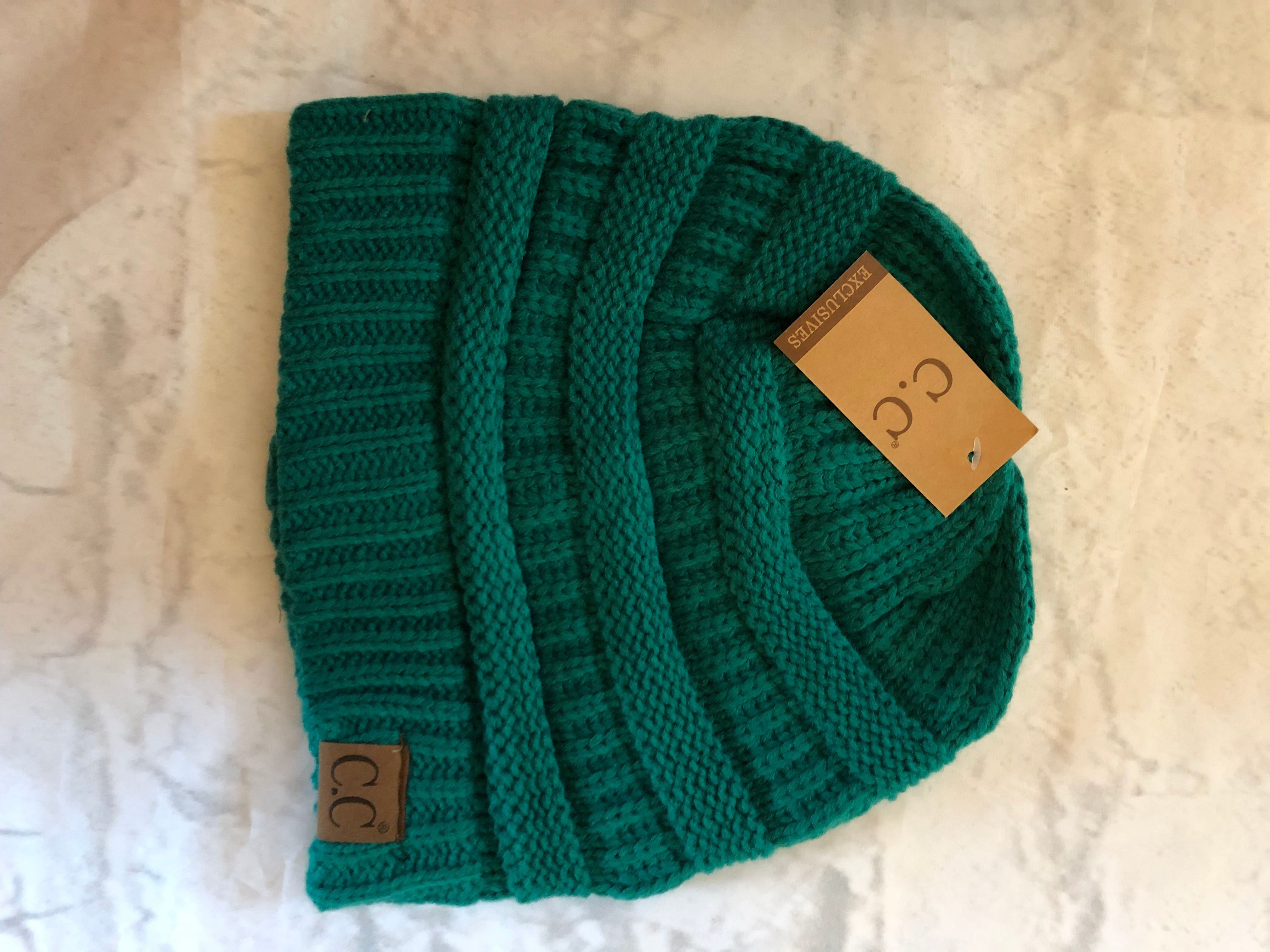 CC Brand Beanie - Blue/Green Family