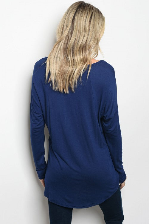 Relaxed Navy Top
