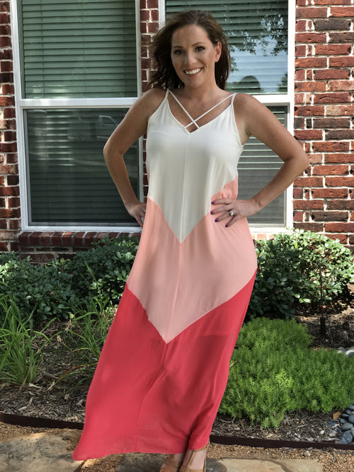 Color-Block Maxi