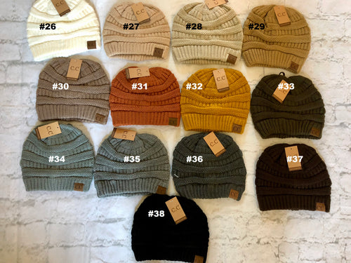 CC Brand Beanie - Neutral Family