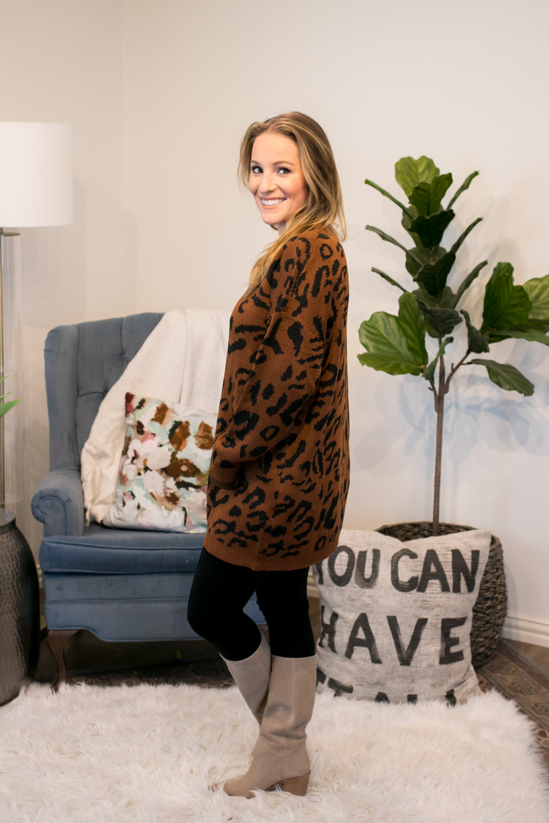 Cozy Up Leopard Sweater
