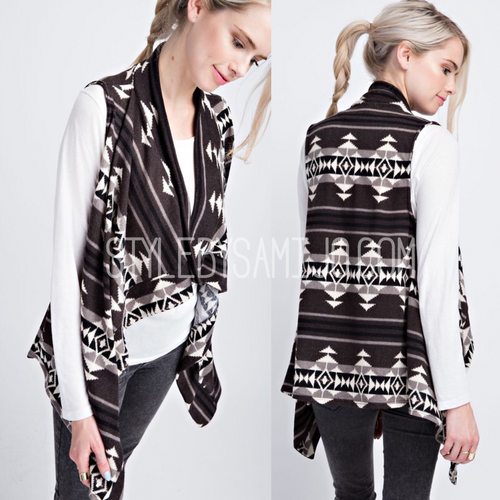 Aztec French Terry Vest