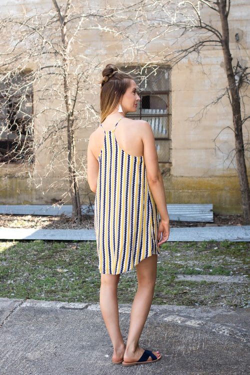 Chevron Halter Dress