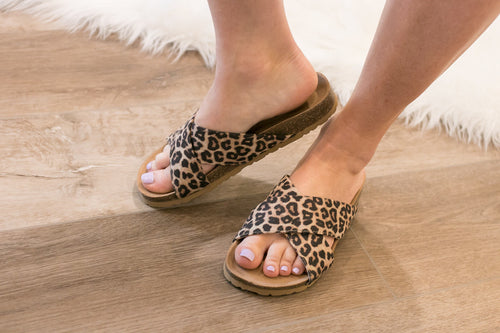 Leopard Casual Slide