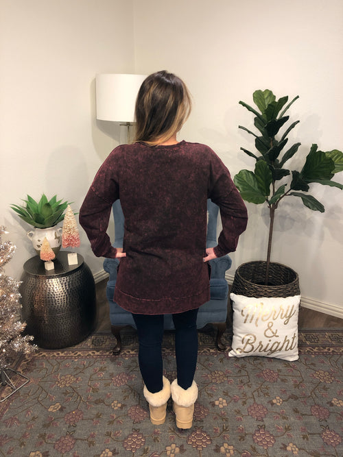 Marbled Scoop Neck Tunic