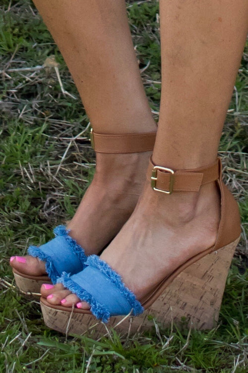 Denim On Wedge