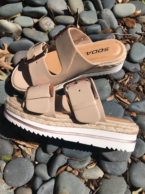 Double Buckle Sandal