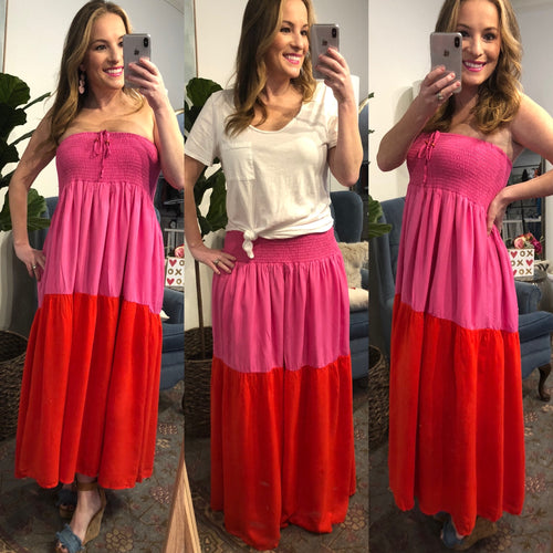 Pink & Red Maxi