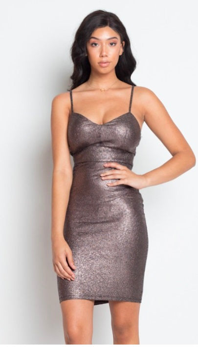 Metallic Bodycon Dress