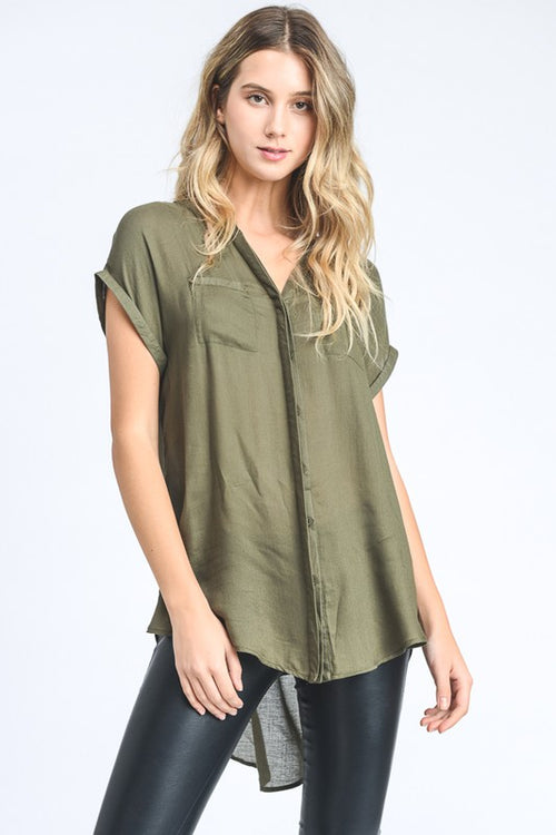 Relaxed Blouse Olive