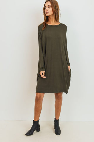 Collard Ruffle Dress