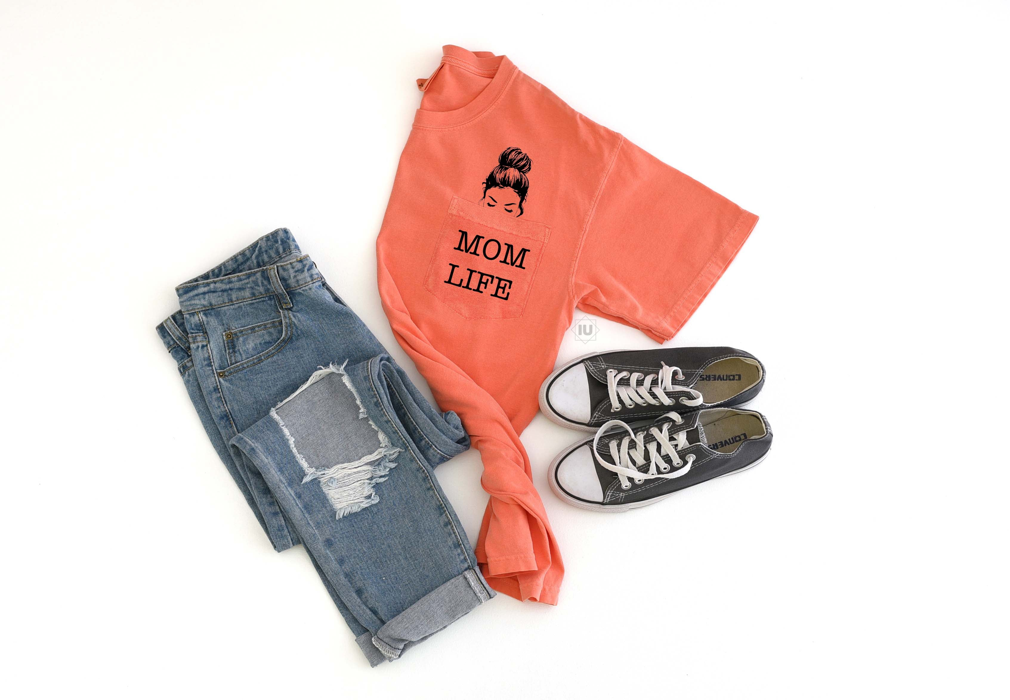 Pocket Tee-Mom Life | Wholesale