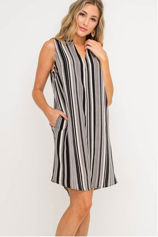 Symmetric Stripe Dress