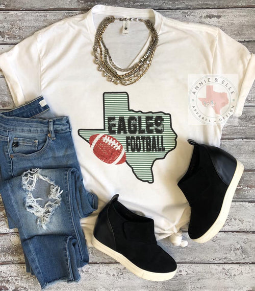 Stripe Texas Football Tee