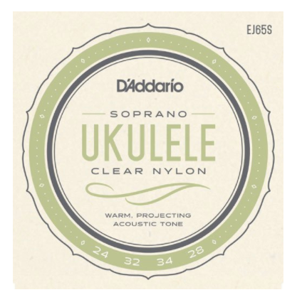 D'Addario Soprano Ukulele Clear Nylon Strings
