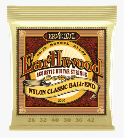 Ernie Ball Earthwood 80/20 Bronze Nylon Classic Guitar Strings - American Music