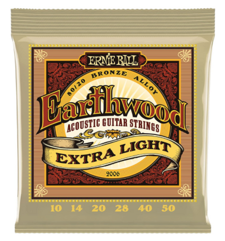 EB Earthwood 80/20 Bronze Acoustic Strings, Extra Light 10-50 - American Music