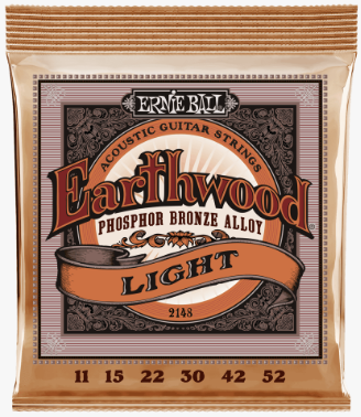 Ernie Ball Earthwood Acoustic Guitar Strings - 11/56 Light