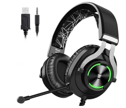 EKSA 3000 Cross-Platform Wired Gaming Headset with Noise Cancelling Mic & RGB Light - American Music