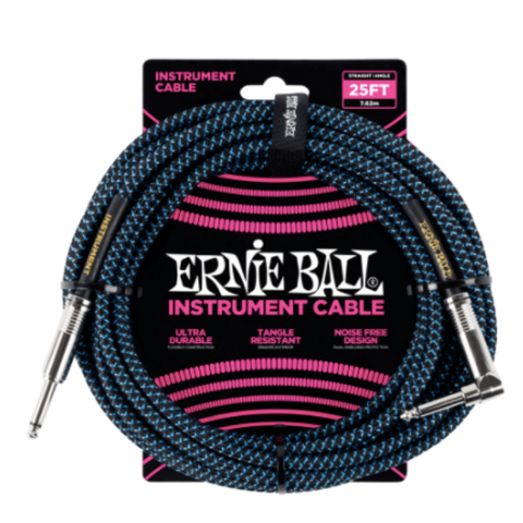 Ernie Ball Braided Straight/Angle Instrument Cable - 25'